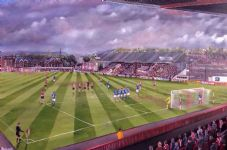 Exeter City - Last Game of  The Old Grandstand - A3 poster print